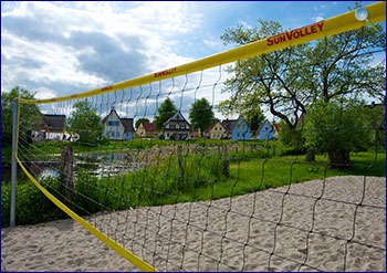 Der Volleyball-Platz